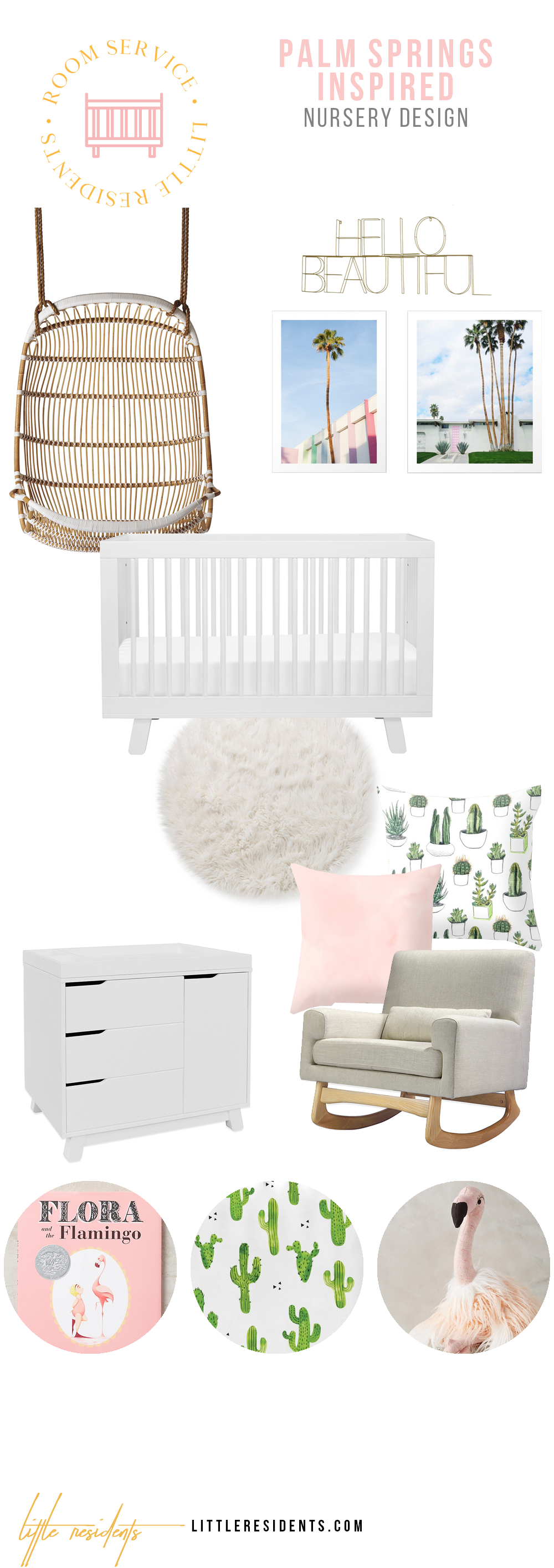 Palm Springs Inspired Nursery Interior Design by Little Residents