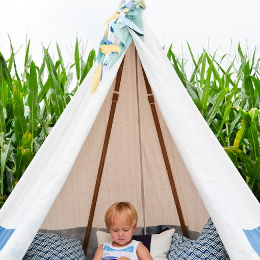 DIY Kids No Sew Teepee | Interior Design Trend - Little Residents