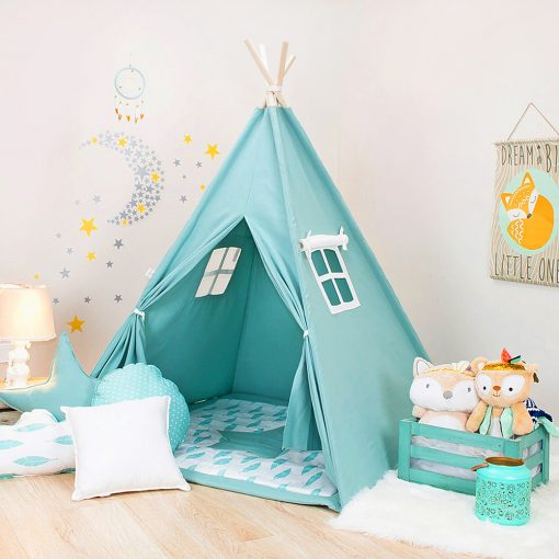 Mint Blue Kids Teepee | Interior Design Trend - Little Residents