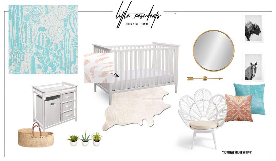 Southwestern Nursery Style Board | E-Design